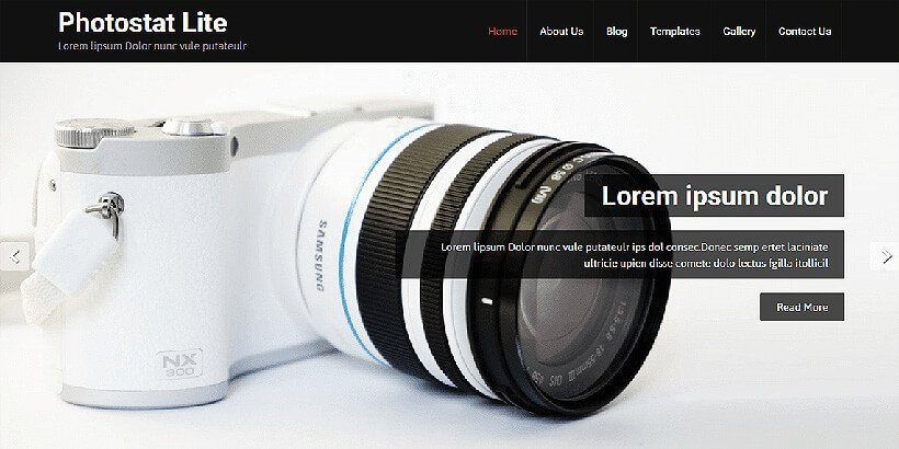 photostat free photography wordpress themes