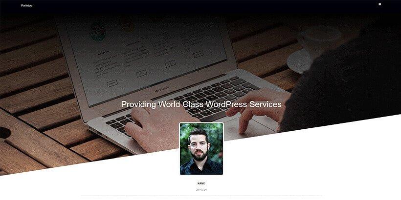portfolioo free portfolio wordpress themes