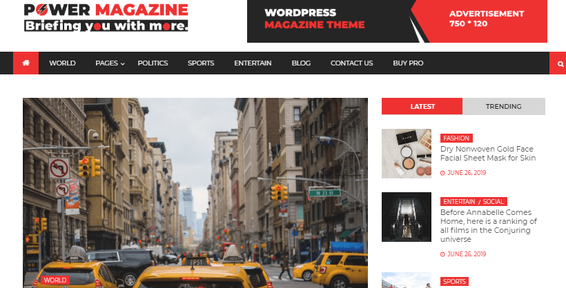 power-magazine-free-wordpress-theme