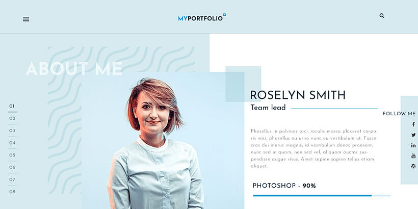 rt free portfolio wordpress themes