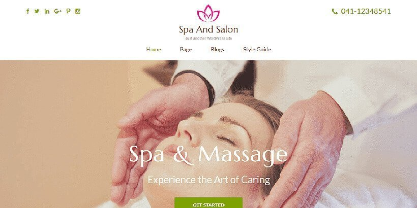 spa&salon free beauty wordpress themes