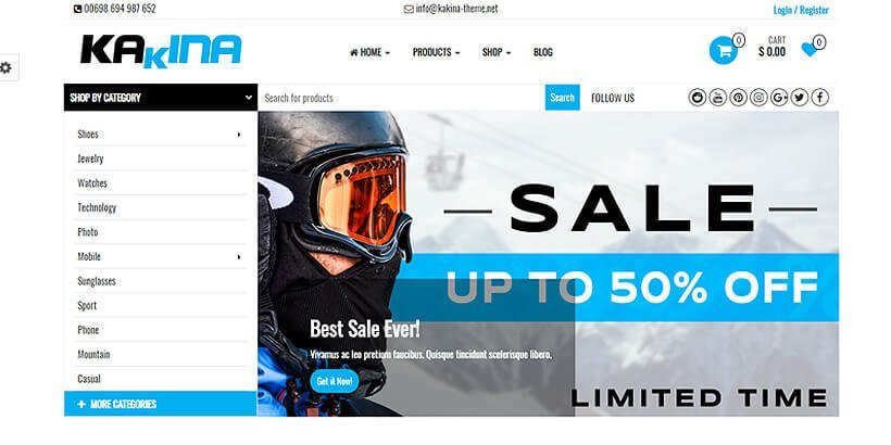 kakina best woocommerce theme