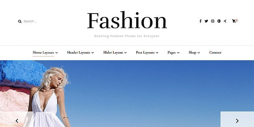 blossomfashion free feminine wordpress themes