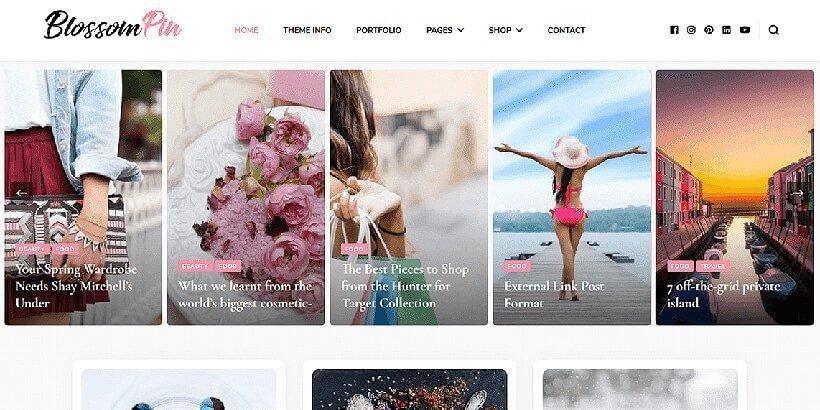 blossompin free feminine wordpress themes
