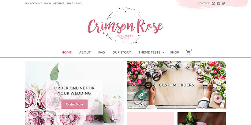 crimsonrose free feminine wordpress themes