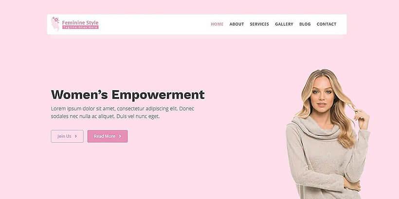 femininestyle free feminine wordpress themes