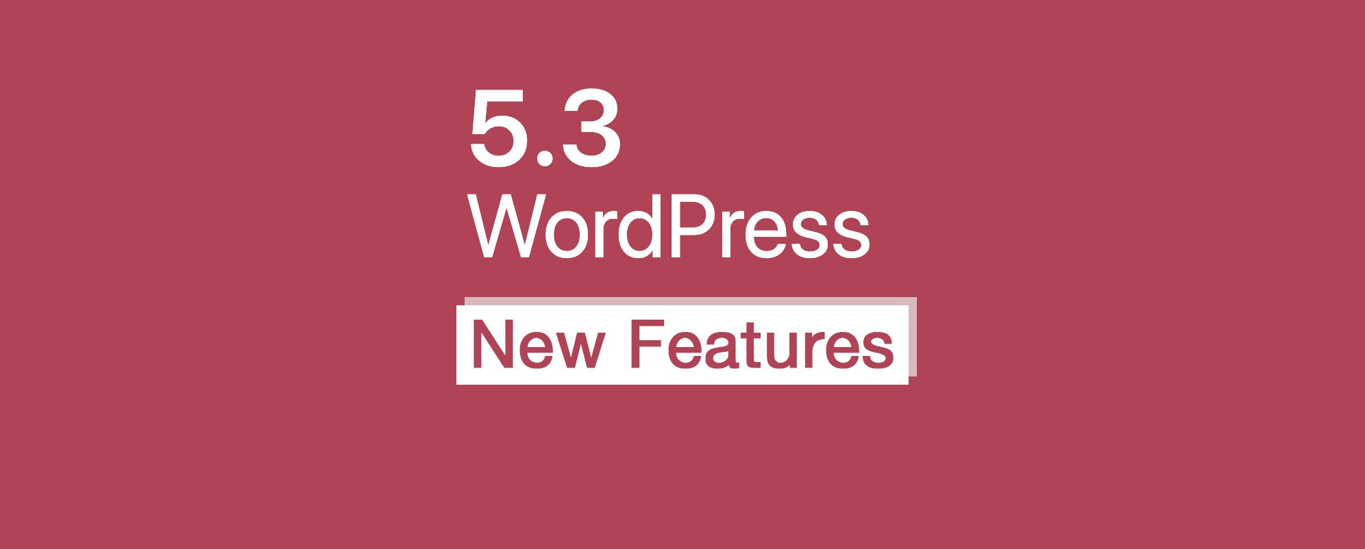 WordPress 5.3 Updates