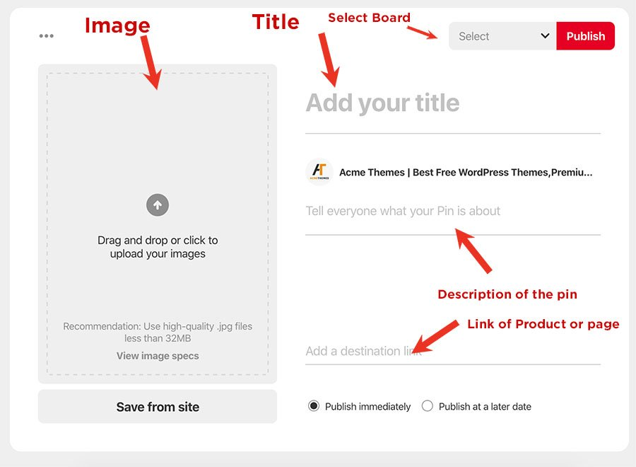 How to create pin in pinterest