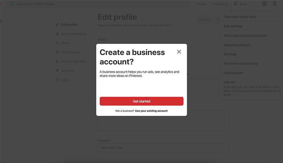 Pinterest Business Account Setup2