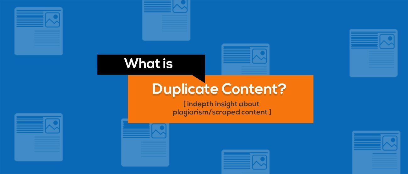 what is duplicate Content on Website