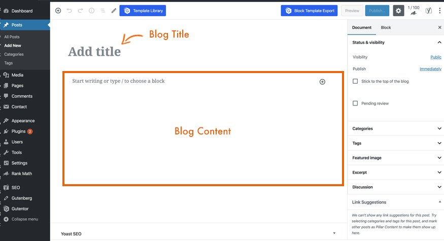 blog layout wordpress
