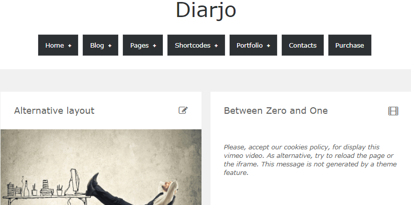 Diarjo-free-wordpress-minimal-theme