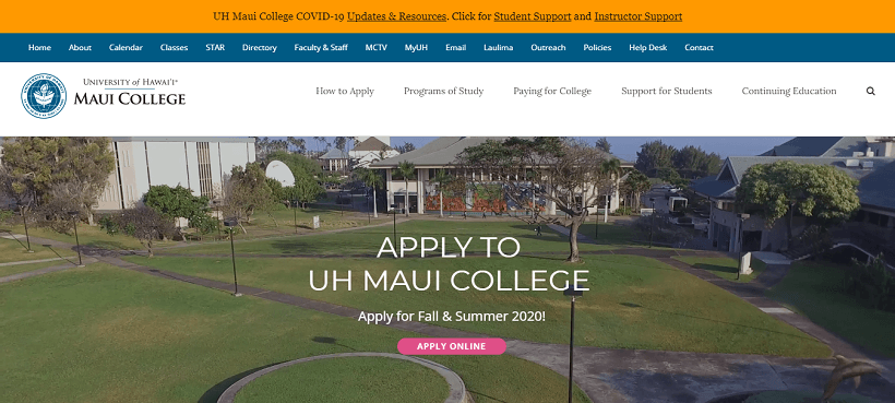 university-of-hawaii-maui-college-website-built-with-Avada