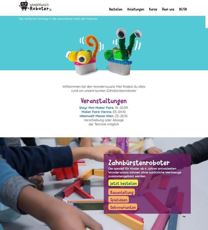 wunderwuzzi-roboter-astra-wordpress-theme-built-site
