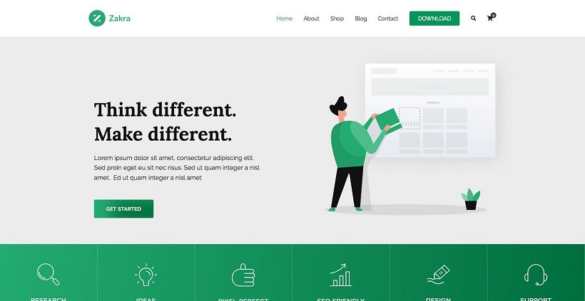 Zakra-Agency-WordPress-Template-Site