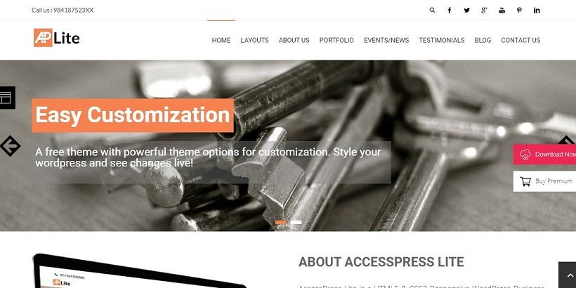 accesspress-lite-free-wordpress-theme