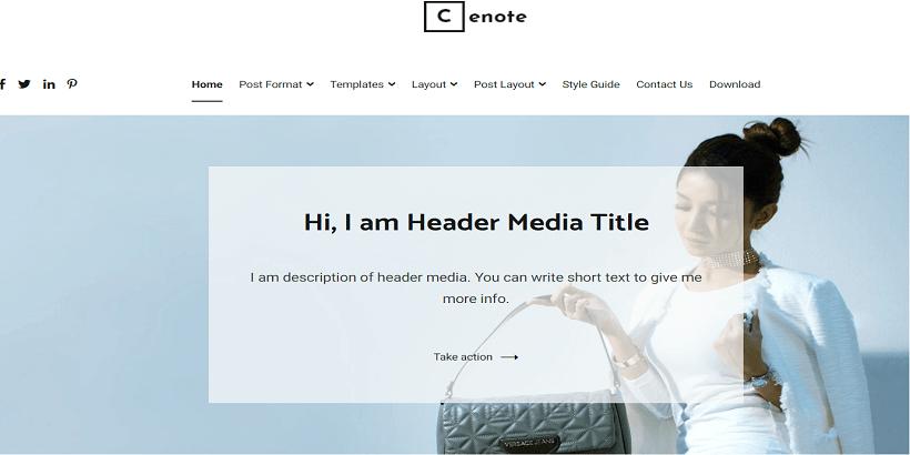 Cenote-Free-WordPress-Theme-for-Personal-Blog
