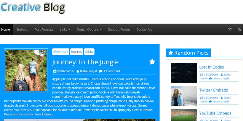 Creative-blog-Free-WordPress-theme-for-tech-blog