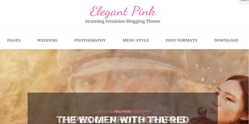 Elegant-Pink-Best-WordPress-theme-for-fashion-blogs