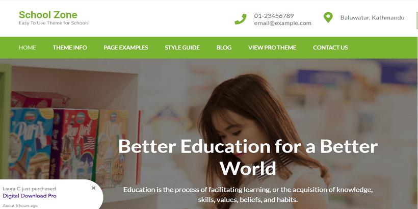 School-Zone-Free-WordPress-Theme-for-online-courses