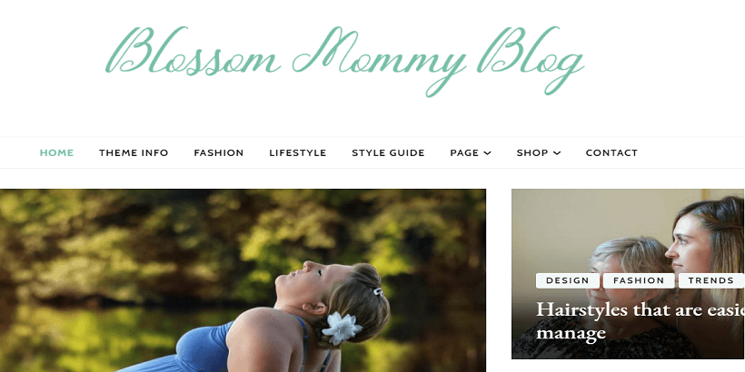 Blossom-mummy-blog- Best-WordPress-theme-for-parenting-blogs