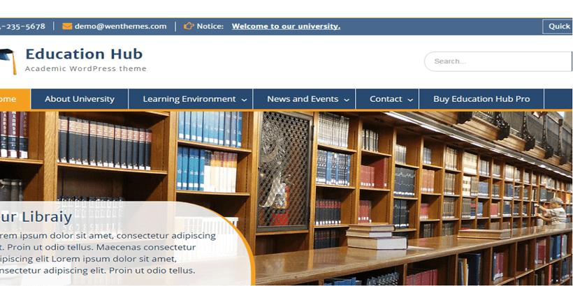 Education-hub-free-WordPress-theme-for-online-course