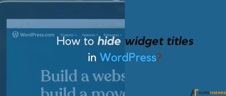 How-to-hide-widget-titles-in-WordPress?