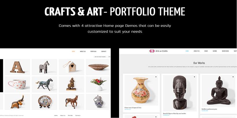 Crafts& Arts-Best WordPress-Interior-Design-Themes