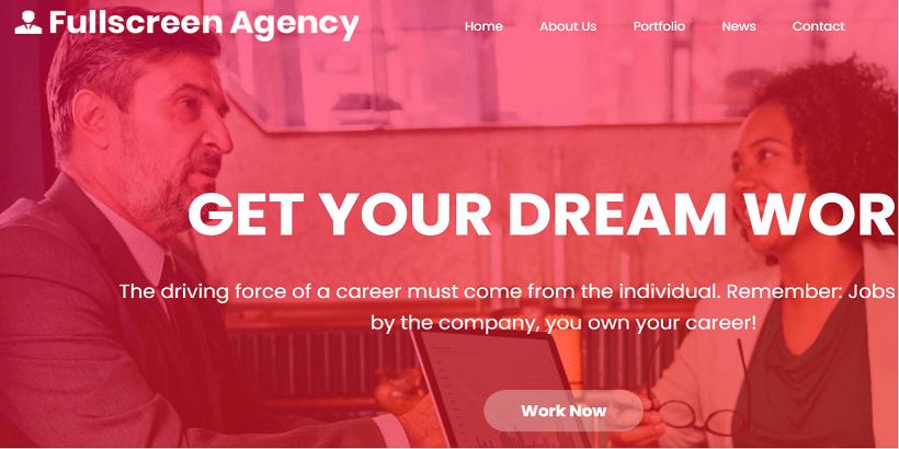 FullScreen Agency-Best-Free-FullScreen-WordPress-Themes