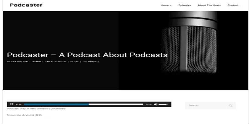 Podcaster-SecondLine-Best-Podcast-WordPress-theme