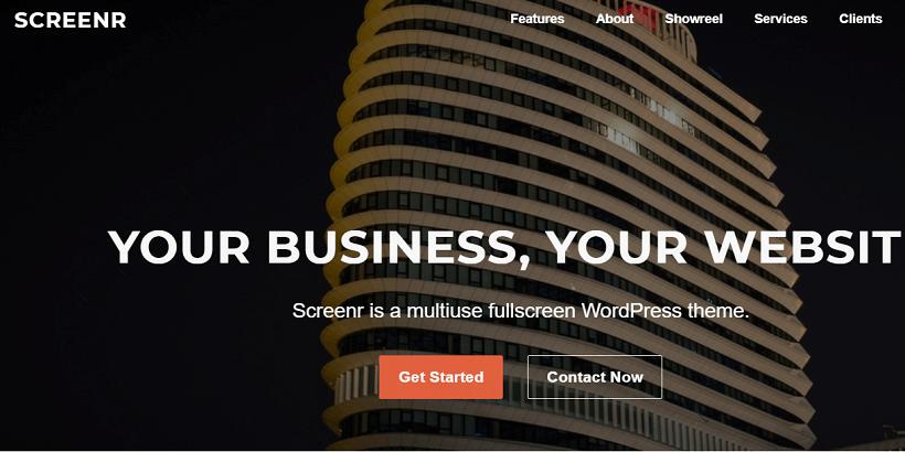Screenr-Best-free-Fullscreen-WordPress-Theme