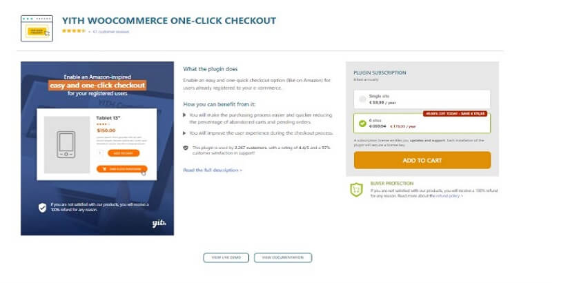 YITH-WooCommerce-One-Click-Checkout-Top 5-WooCommerce-One-Page-Checkout-Plugins-in-2021