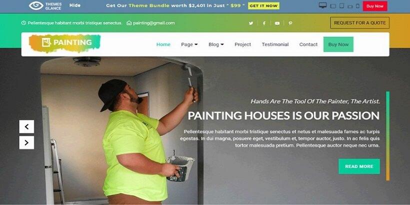Free-Painter-WordPress-Theme
