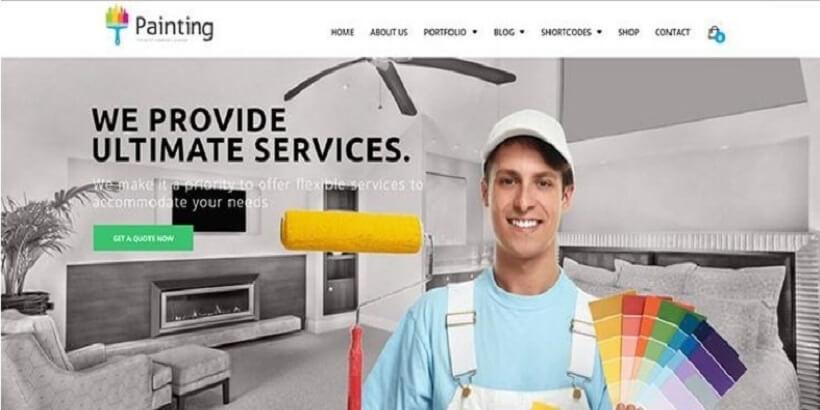 Painting - Ceiling-&-Decorating-WordPress-Theme
