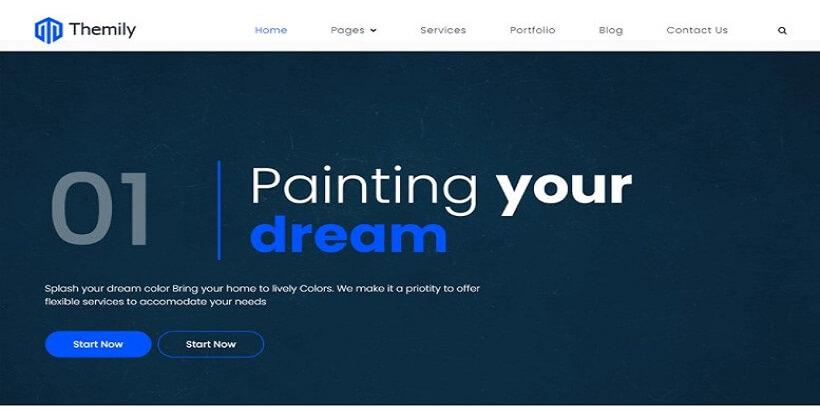 Themily-Free-Wall-Painting-WordPress-Theme