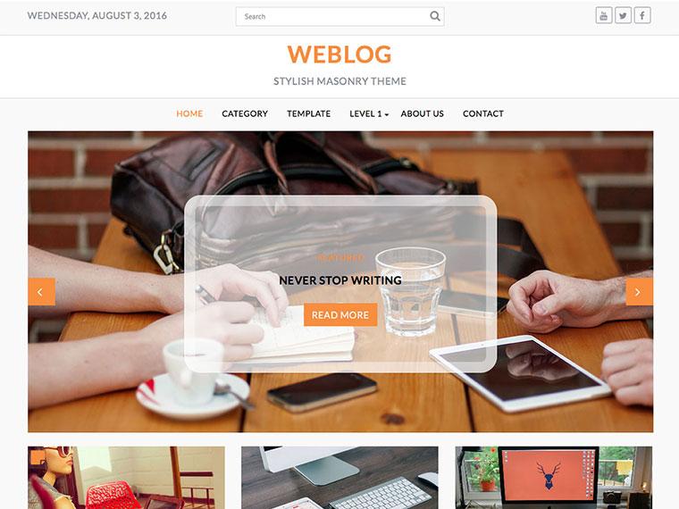 "<span itemprop=""name"">Weblog</span>"