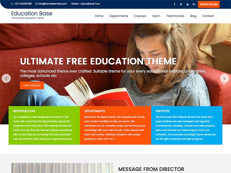 Education Base - Education WordPress Theme for all Educational institute