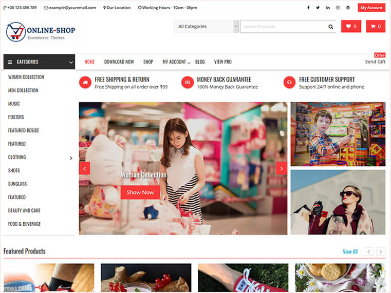eed62f1cb01b28 Online Shop - Highly Customized WordPress WooCommerce Theme