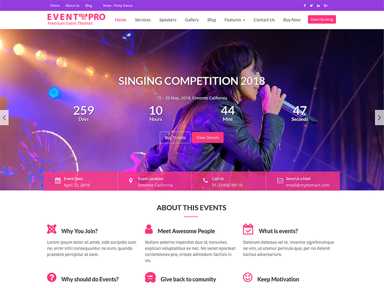Event star pro fully responsive multi purpose event conference event star pro altavistaventures