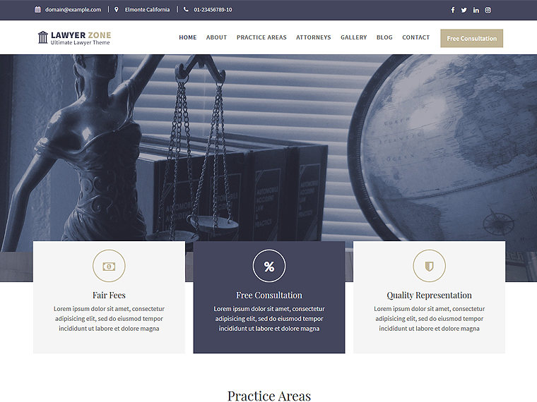 lawyer zone ultimate wordpress theme for lawyer law offices and