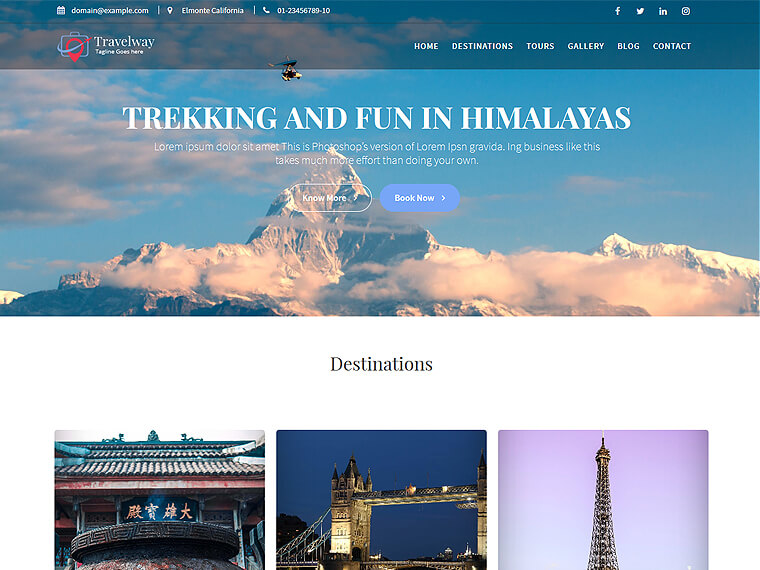 Travel Way - Travel, Tours & Trekking WordPress Theme - Acme