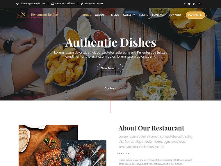 Restaurant Recipe Pro